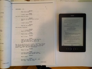 Screenplay paper/Kindle